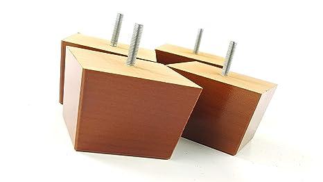 Knightsbrandnu2u 4 x blocco mobili gambe 65 mm di altezza piedi in