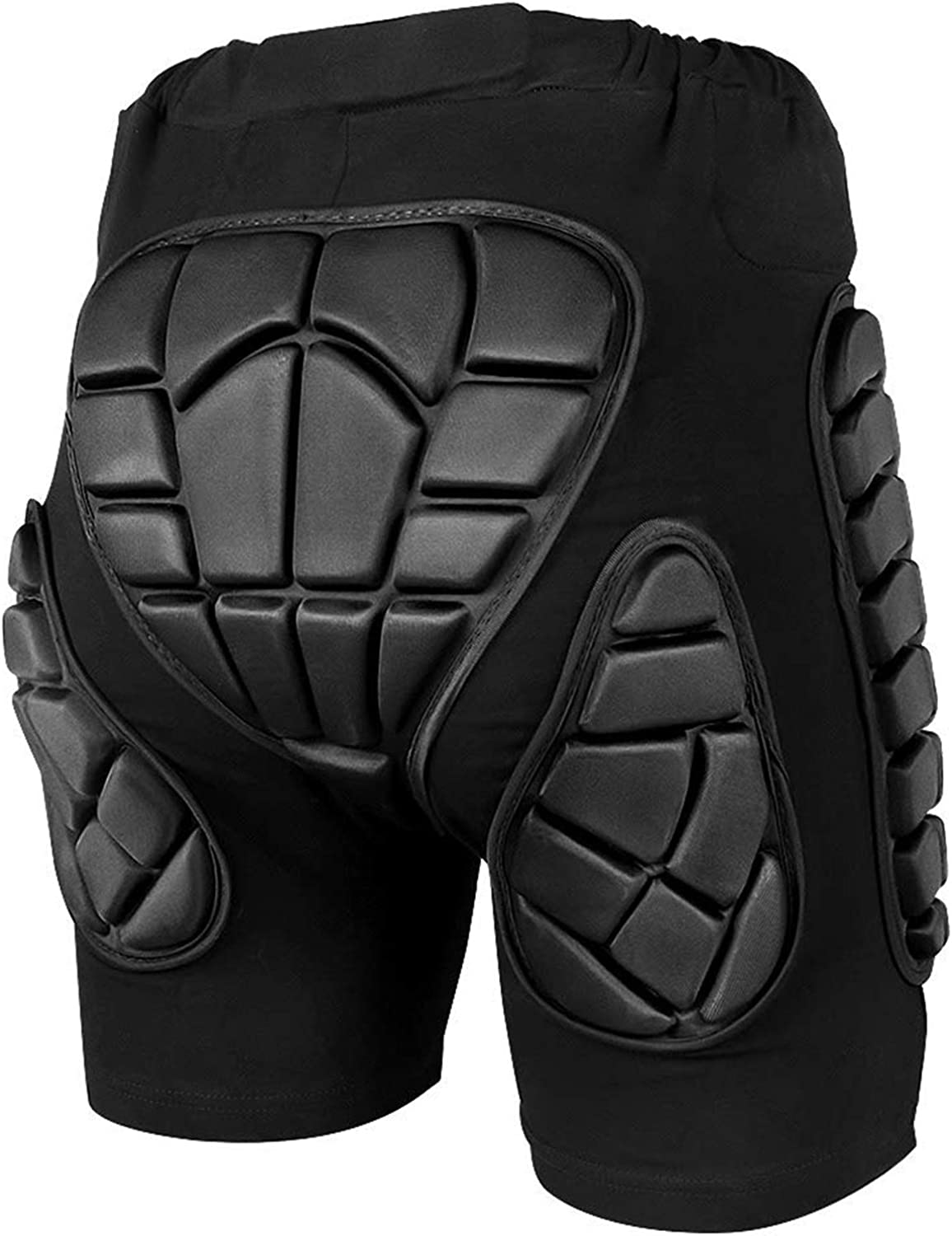 ZIONOR 3D Protective Padded Short Pants Hip Butt EVA for Ski Snowboarding (XS) Black: Clothing