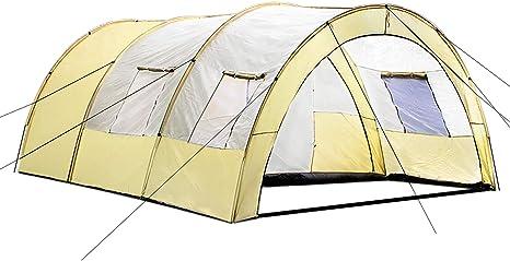 TecTake 800588 - Tienda de Campaña Daniela para 6 Personas, Tienda Túnel, Camping, Acampada - Varios Modelos (Type 3 | No. 402916)