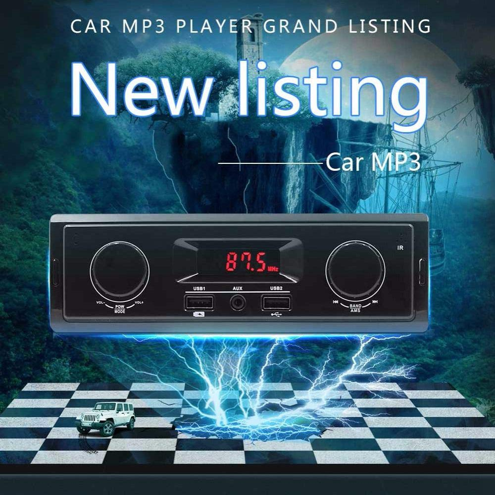 K501 Car MP3 Player FM Radio Tuner AUX Input USB Charging Function