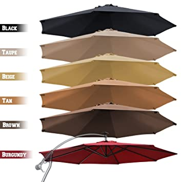 Strong Camel Replacement Canopy Cover For 10u0027 Cantilever Patio Umbrella  Offest Parasol Top Cover (