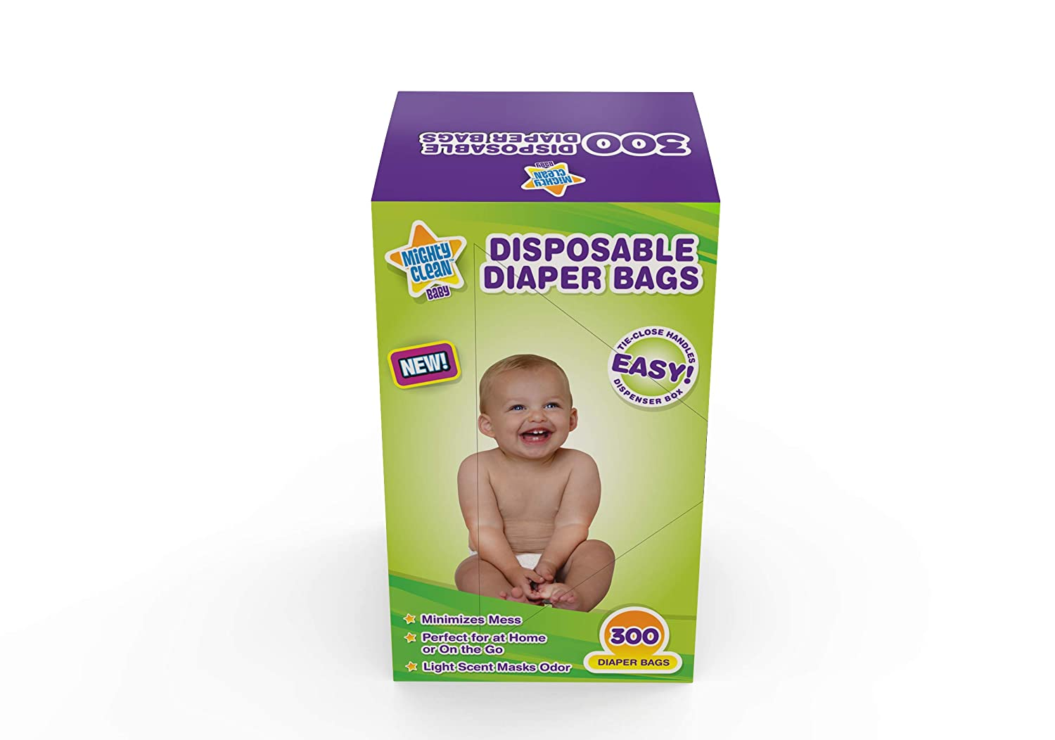 100/% Biodegradable Diaper Sacks with Lavender Scent /& Added Baking Soda to Absorb Odors Blue 400 Count Tadge Goods Baby Disposable Diaper Bags
