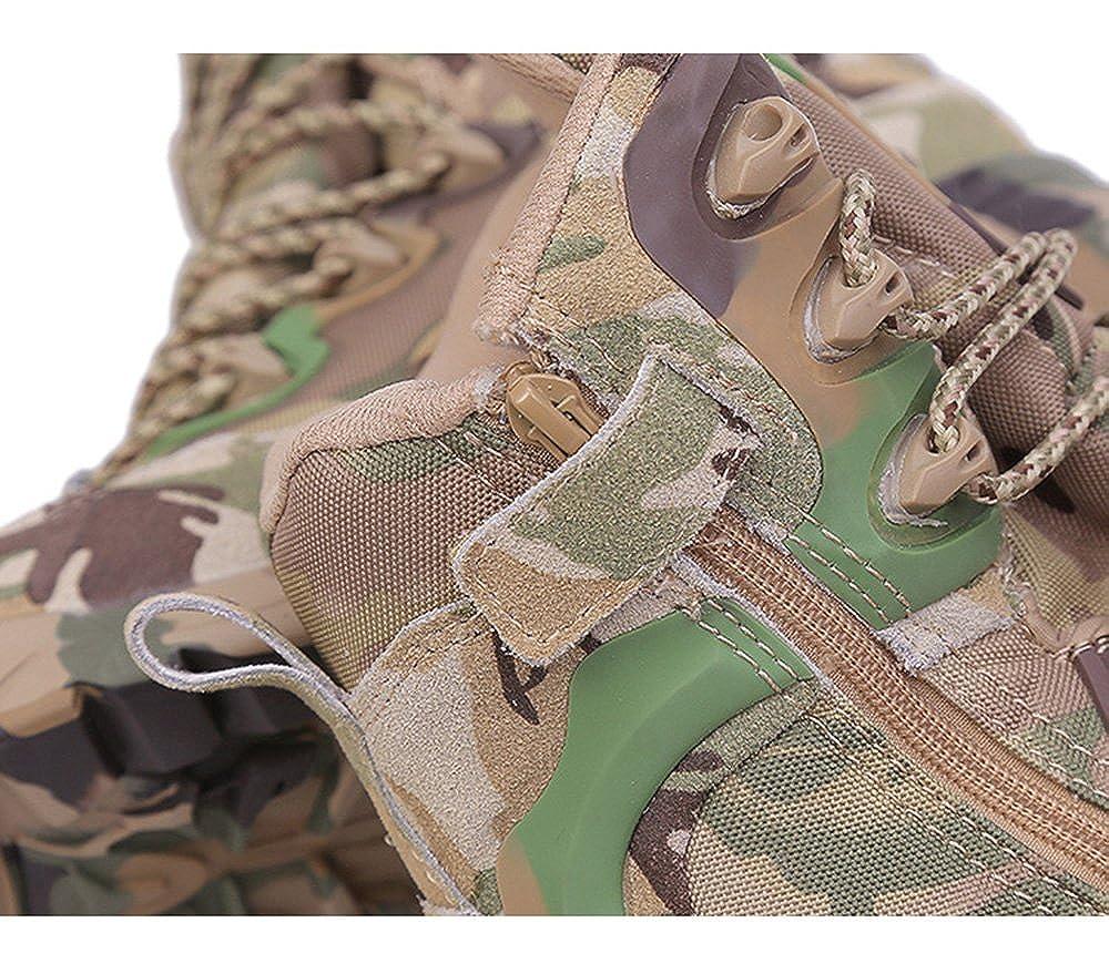 Emansmoer Herren Camo Armee Armee Camo Tactical Combat Stiefel Wildleder Wasserdicht Atmungsaktiv Outdoor Trekking Wandern Stiefel 94a5ba