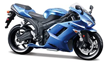 Kawasaki Ninja ZX 6R Blue Bike Motorcycle Model 1 12 By Maisto 31155