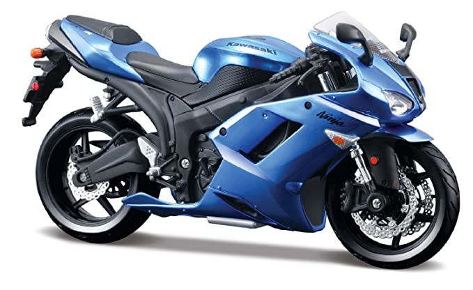Amazon.com: Kawasaki Ninja ZX-6R azul modelo de Bike ...