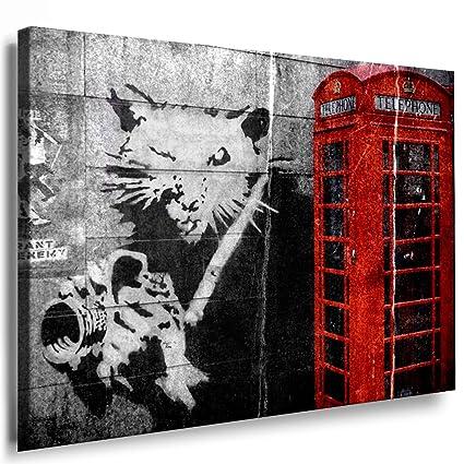 Cabina telefónica de Banksy Graffiti Street Art Lienzo de artfactory24 con globo - Kunstdrucke, lienzo, fotografía, carteles, pinturas, Corazón: Amazon.es: ...