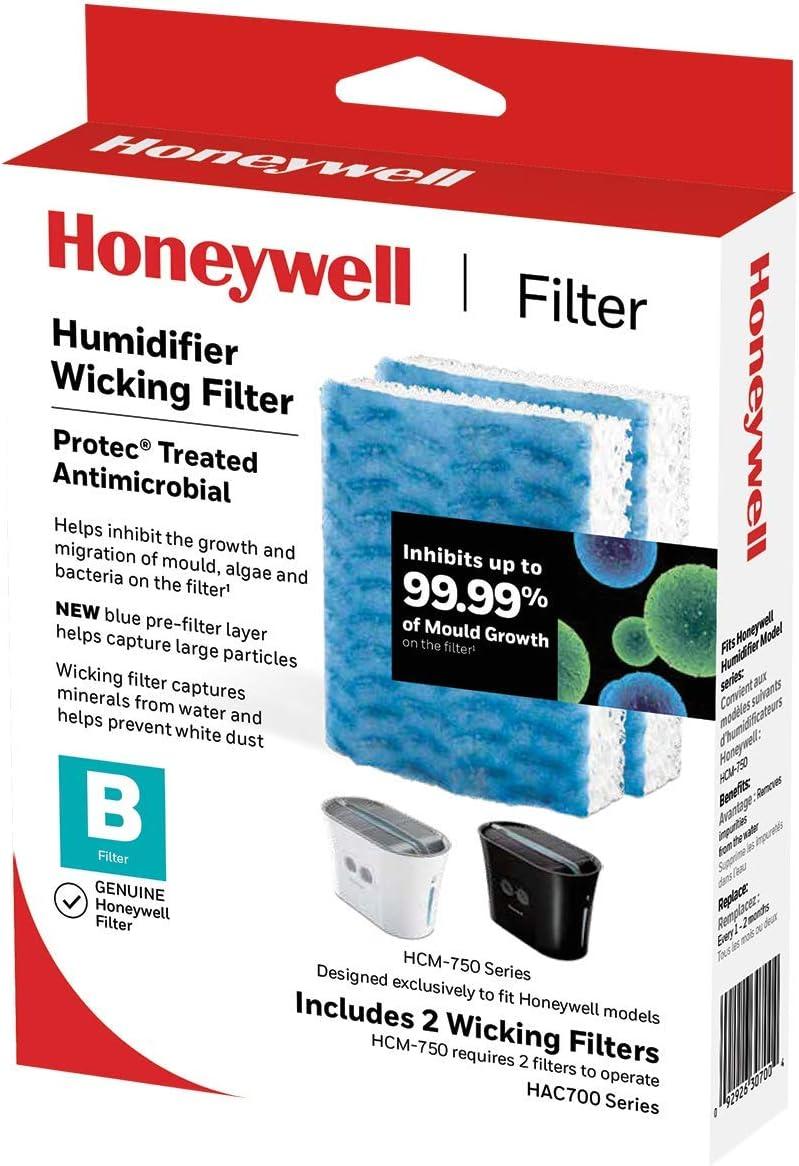 Humidificateur Filtre pour Honeywell HAC-700 Filtre B-Pack de 2