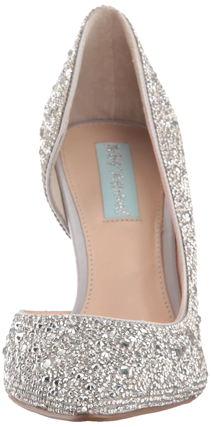 Blue by Betsey Johnson Women's Sb-Hazil Pump B078KC789F 9.5 M US|Silver Satin