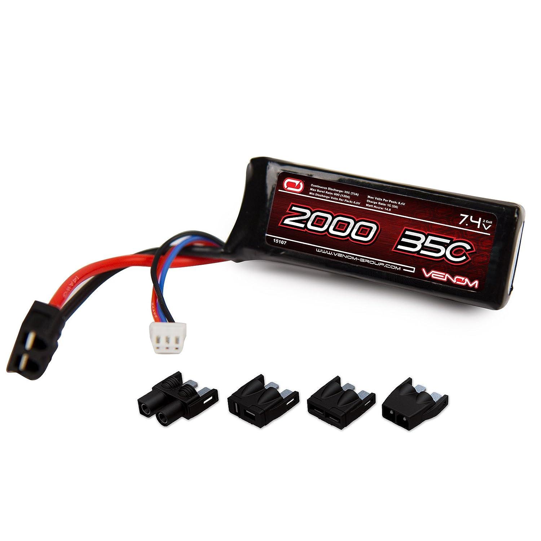 Amazon Venom 35C 2S 2000mAh 7 4V LiPo Battery with Universal Plug EC3 Deans Traxxas Tamiya Toys & Games