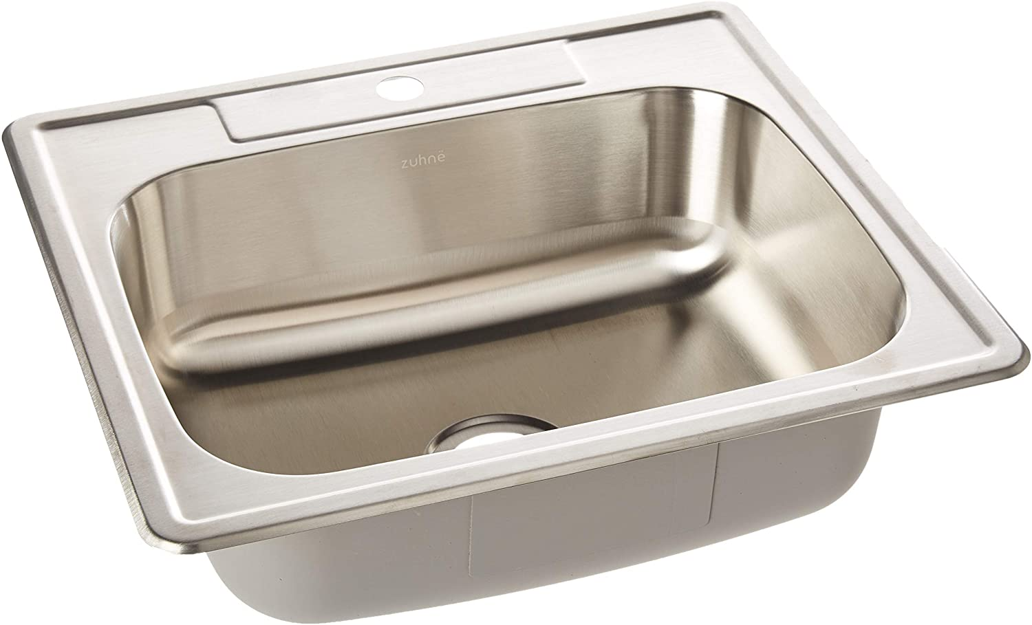 ZUHNE Drop-In Utility Laundry Kitchen Sink Stainless Steel (25 by 22 Single Bowl)