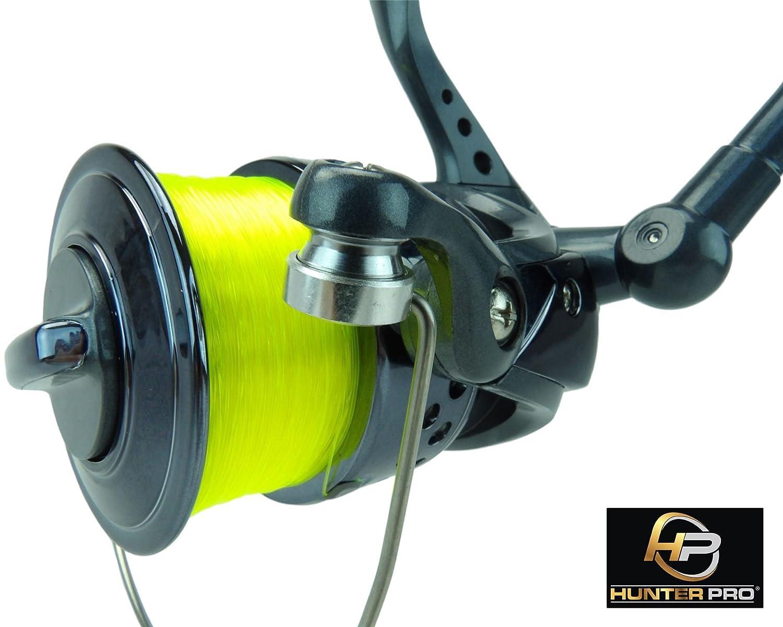 Hunter Pro Sea Fishing Reel 70s Surf With 20lb Line Black Chrome Spool New!