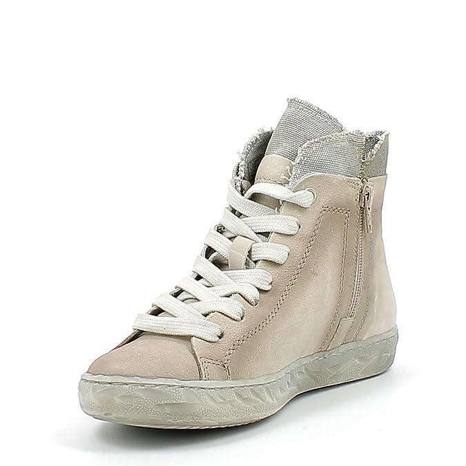 Cafè Noir Femme Leather Sneakers, Eh712, Beige, 39