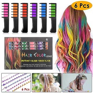 kimilar 6 farbe haarkreide kinder auswaschbar mit 6pcs haar styling twister clip braider werkzeug diy
