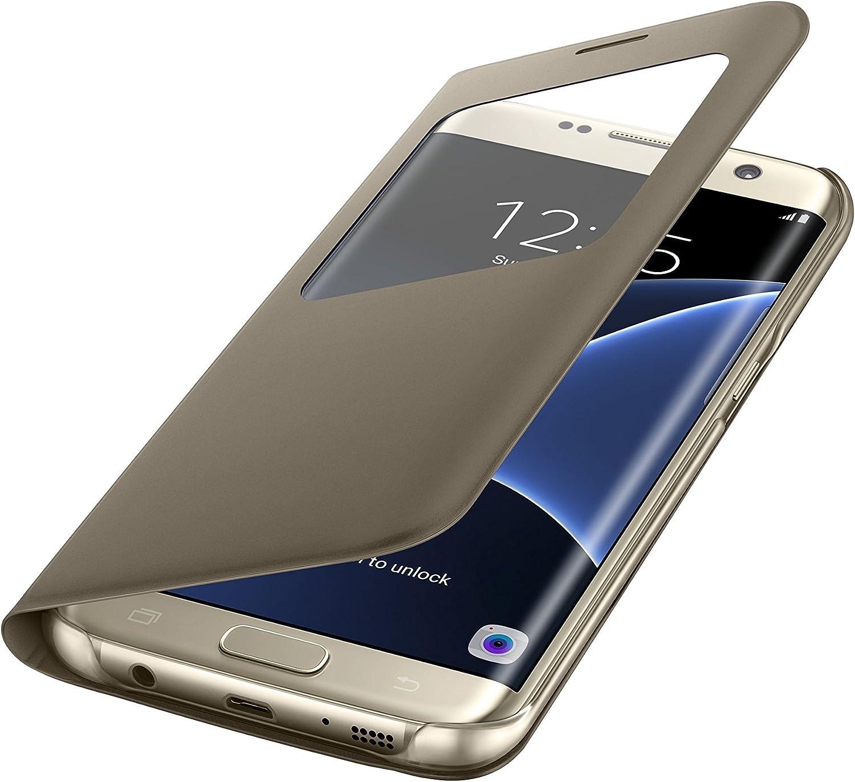 Samsung S View Cover - Funda para Samsung Galaxy S7 Edge, color Dorado: Amazon.es: Electrónica