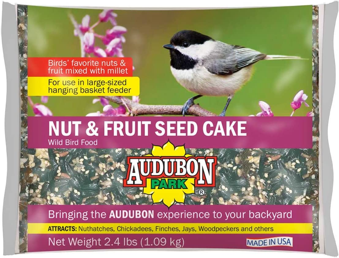 Audubon Park 11932 Nut & Fruit Seed Cake Wild Bird Food, 1.75-Pounds, 1-Pack