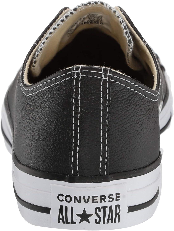 Converse Chuck Taylor All Star Core Lea Ox, Baskets mode mixte adulte Nero Black