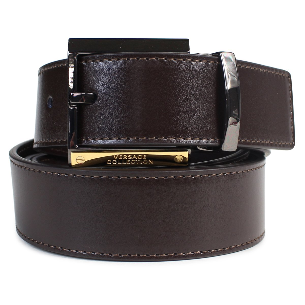 ヴェルサーチ ベルト 本革 メンズ イタリア製 (並行輸入品) B06XSY2114 ブラウン(V239) ブラウン(V239) -