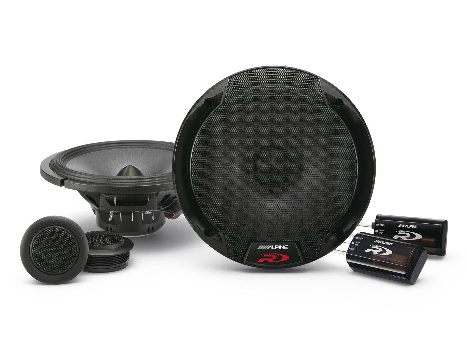 Alpine Spr-60c 6.5-Inch 2 Way Pair of Component Car Speaker System