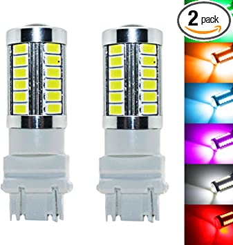 YaaGoo bright fog lights LED DRL bulbs 3157, Yellow