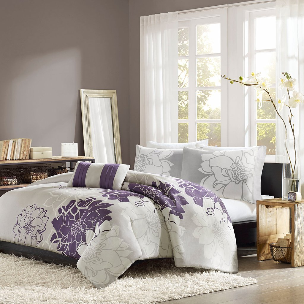 purple bedroom sets. Home Essence Chloe 4 Piece Bedding Set  Queen Purple Sets A Bedroom Decor of Nature and Royalty