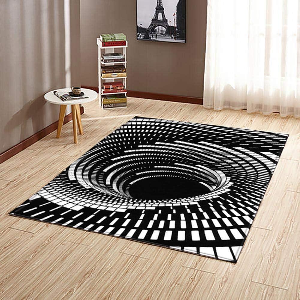 Christmas 3D Illusion Doormat Anti-Slip Floor Mat Bedside Area Rugs for Bedroom