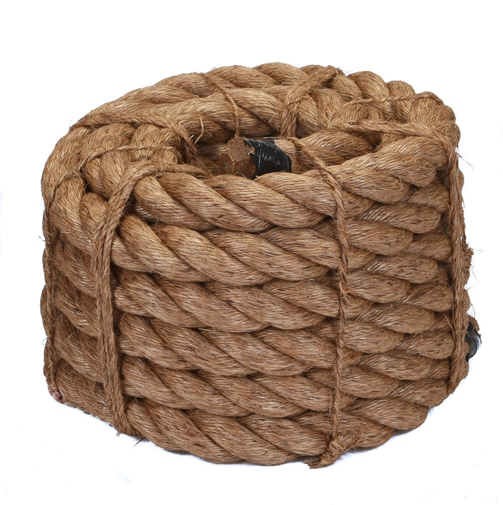 Ravenox Natural Manila Rope Cordage | Pre-Cut Lengths in Every Diameter 1//2 inch x 25 feet Decorations Tug of War or General Purpose | Premium Twisted Cord for Climbing Landscaping
