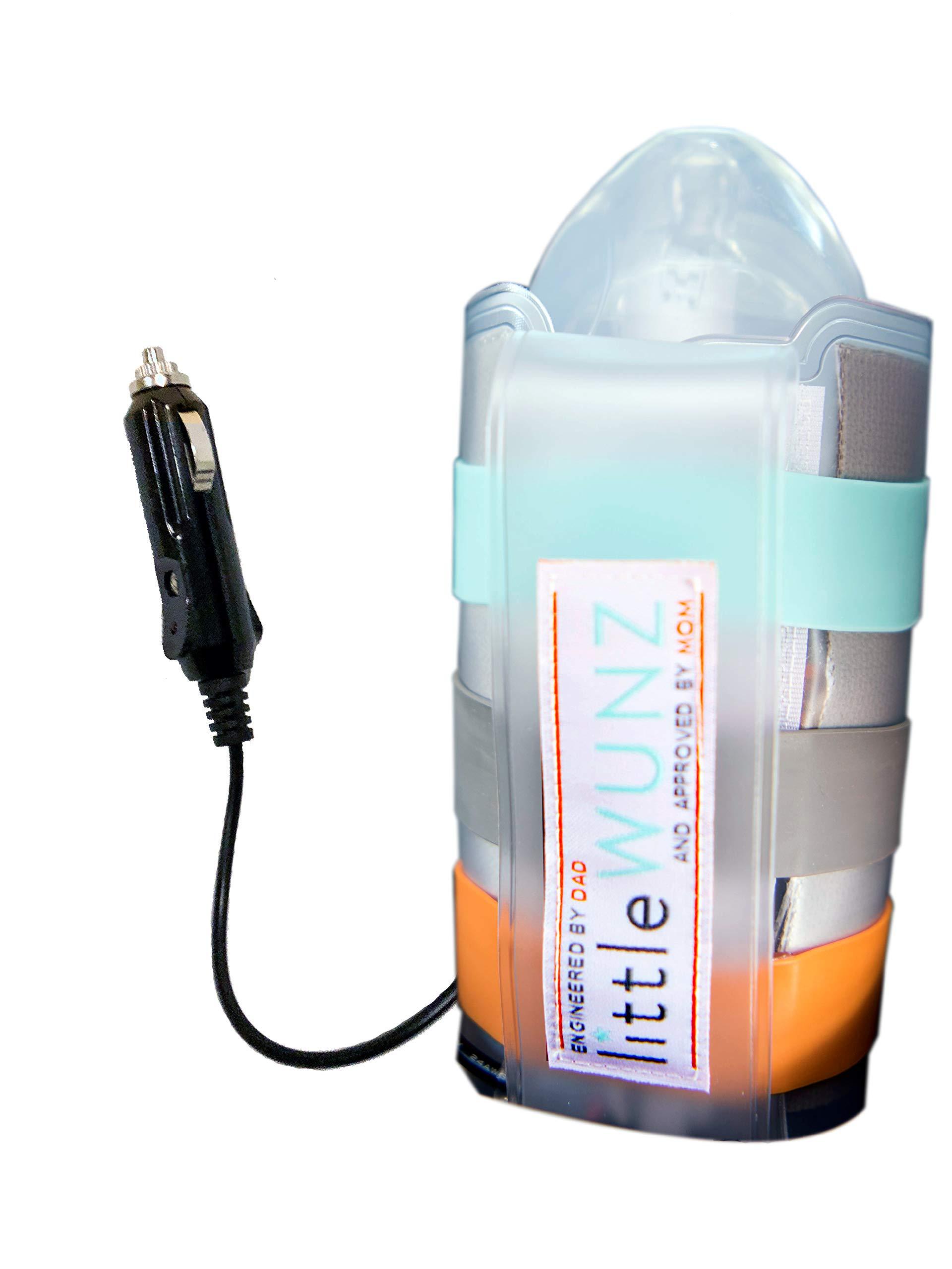 LITTLEWUNZ Travel Car Baby Bottle Warmer