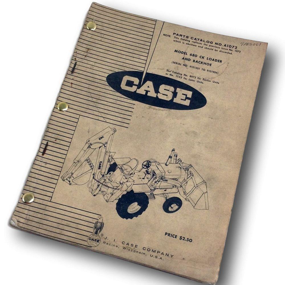Amazon com: J I Case 680 Ck Loader And Backhoe Parts Catalog