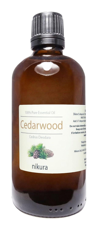 100% Pure Cedarwood (Himalayan) Essential Oil 10ml, 50ml, 100ml (10ml) Nikura