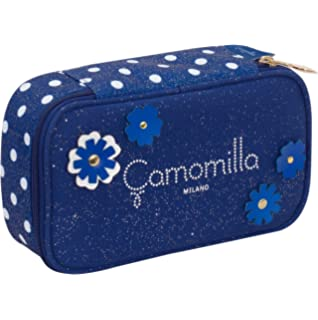 04159c96dc Quick Case Camomilla, Blu, con contenuto per la scuola: penne, matite,