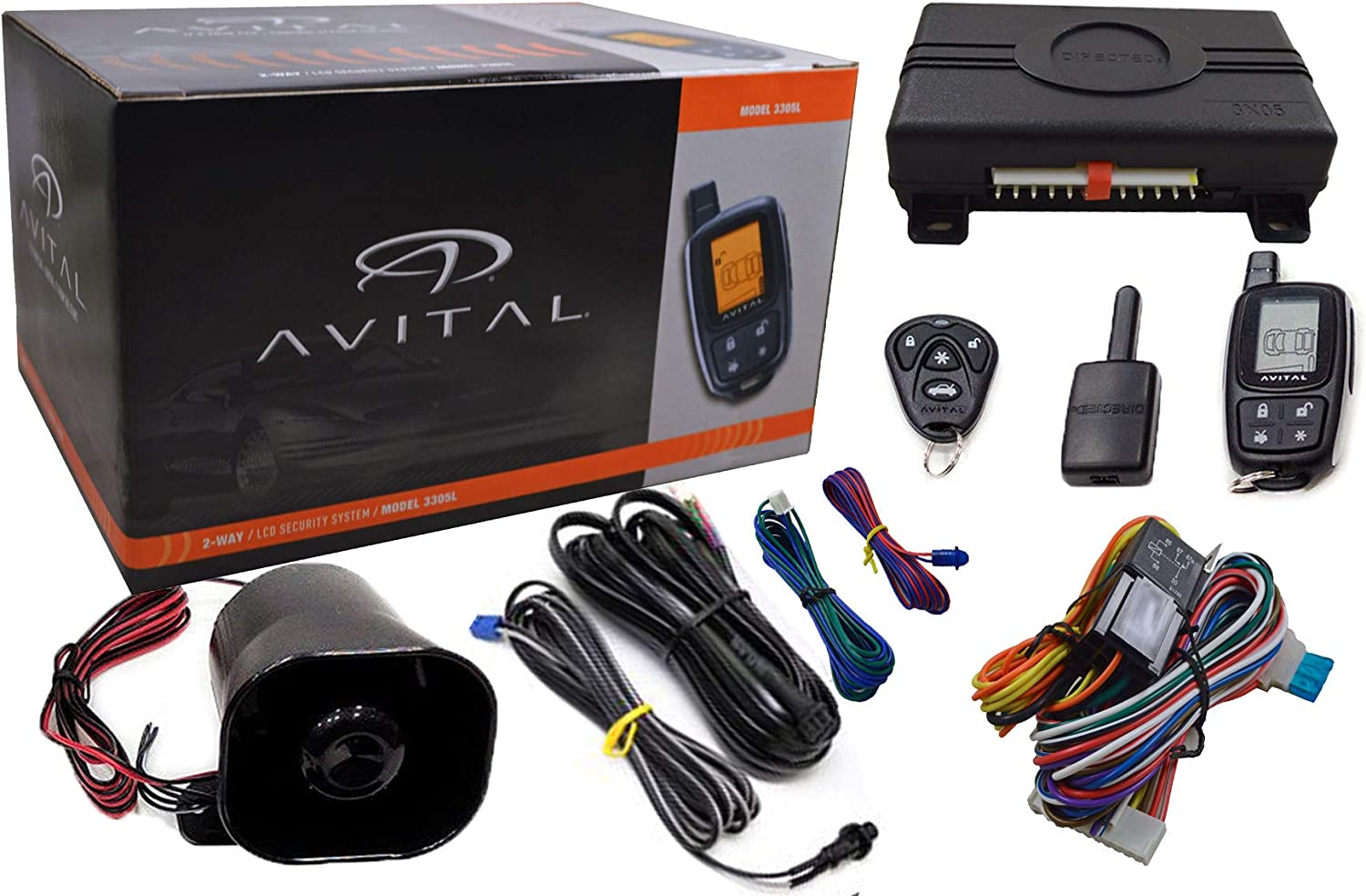 Avital 3305L 2-Way Lcd Security System Keyless Entry//Vehicle Security System