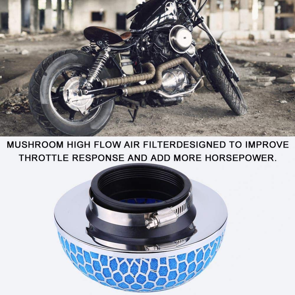 blue Car High Flow Air Filter 76mm Universal
