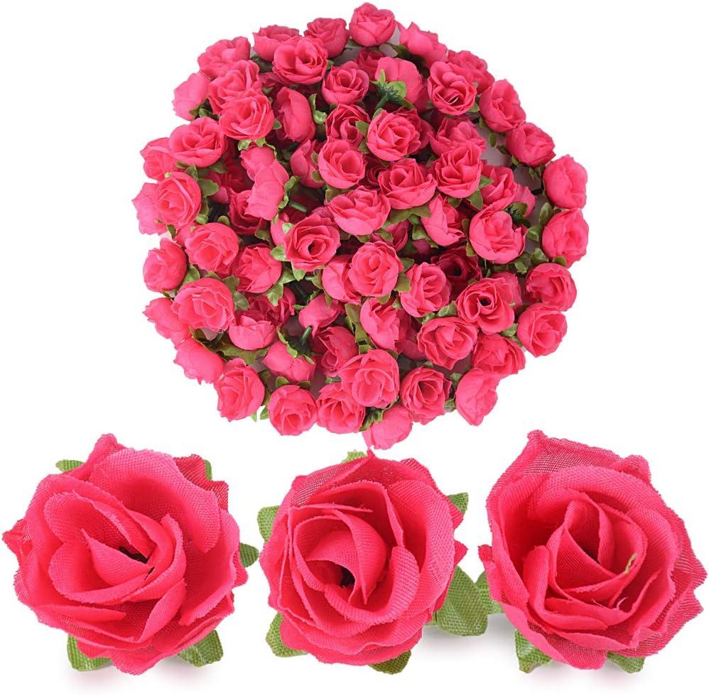 40 Stück Künstliche Blumenköpfe Blütenköpfe Kunst Blumen Rosen Köpfe für