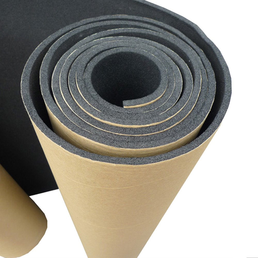HOUTBY 1Roll 15mm Car Sound Proofing Deadening Insulation Closed Cell Foam Noise Soundproof 50cm X 100cm