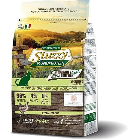 Stuzzy Monoprotein, alimento para Gatos, sin Cereales ni Gluten, para Mantenimiento de Gatos