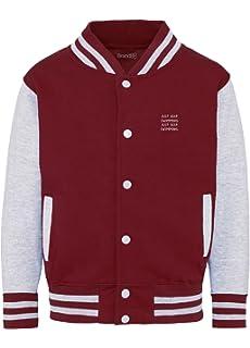 Brand88 Keep Kame And Hame Ha Kids Varsity Jacket Amazon Co Uk