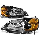 DNA Motoring HLOHHC01BKAM Headlight (Driver & Passenger Side)