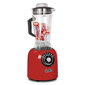 Dash Chef Series 64 oz Blender with Stainless Steel Blades + Digital Display for Coffee Drinks, Frozen Cocktails, Smoothies, Soup, Fondue & More - Red