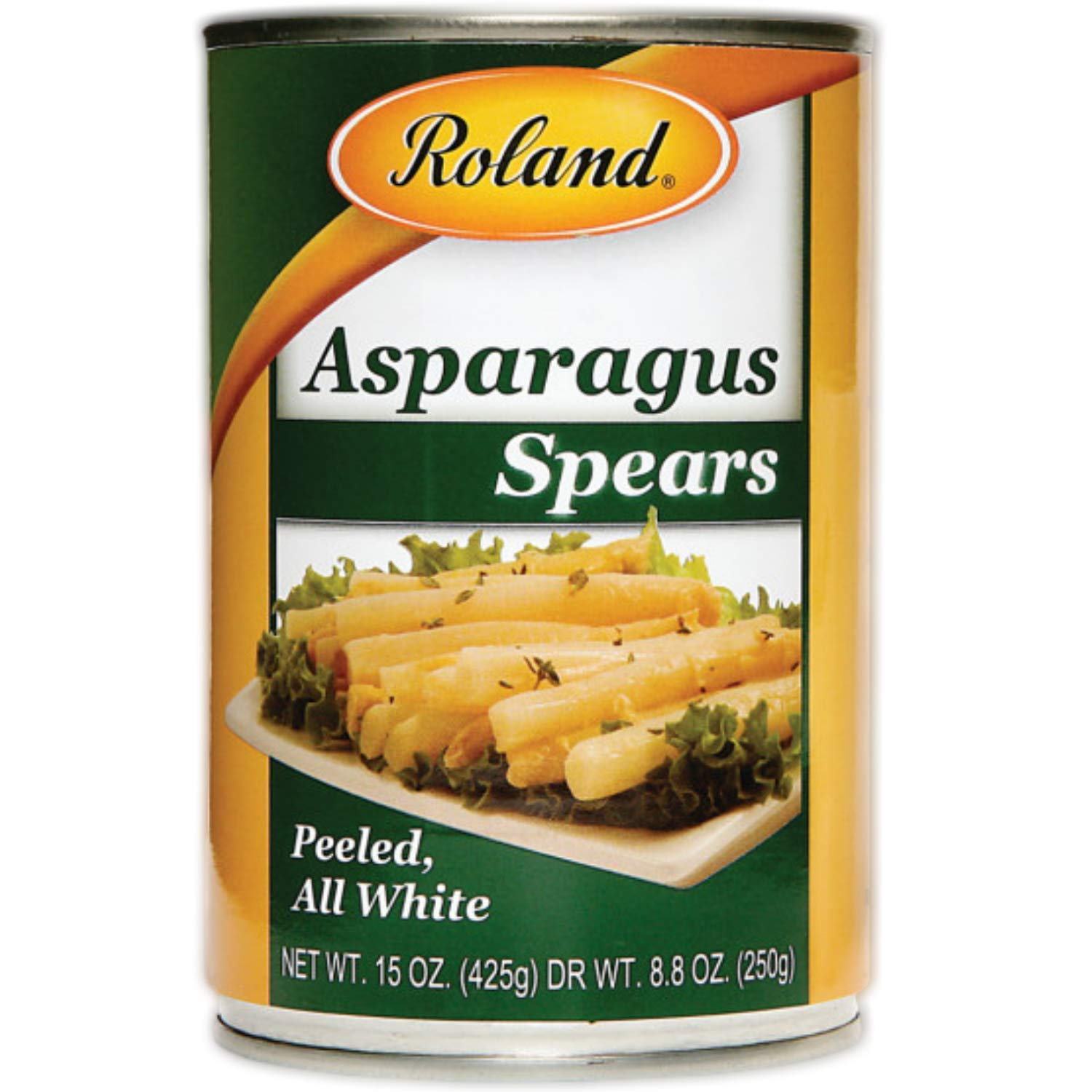 Roland Foods Canned White Asparagus Spears, Specialty Imported Food, 15-Ounce Can ( 3 Count )