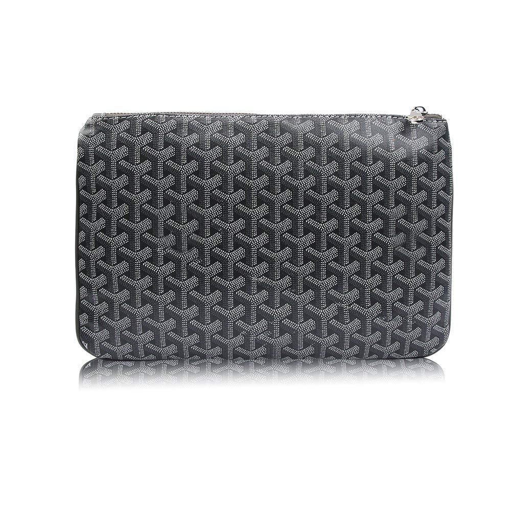 Stylesty Designer Clutch Purses for Women, Pu Envelope Fashion Clutch Bag, Women Handbag (Medium, Dark Grey1) by Stylesty (Image #1)