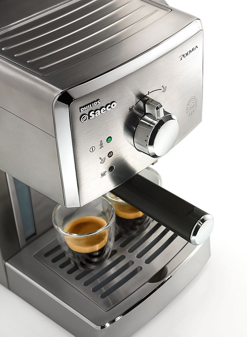 Saeco Manuelle Poemia Focus - Cafetera espresso manual, color ...