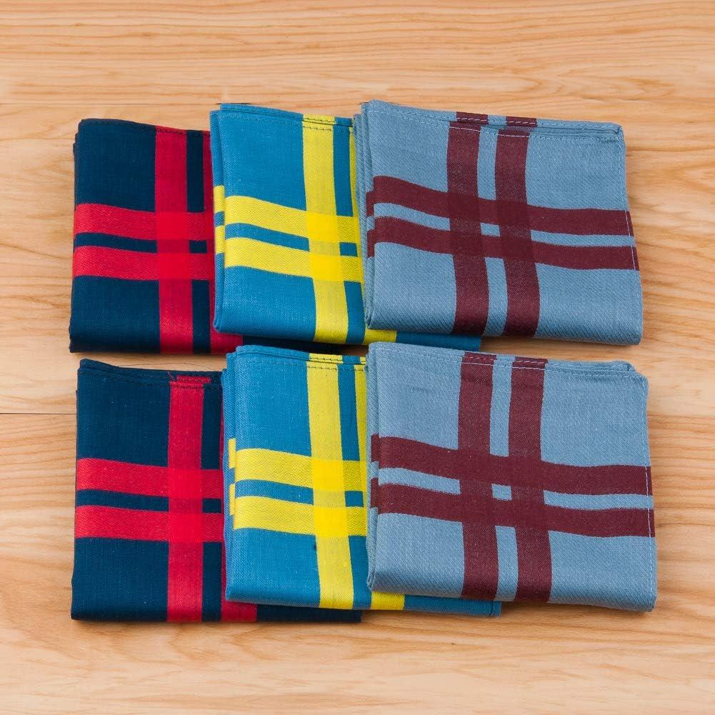 in puro cotone per uso quotidiano 43 x 43 cm 6//12 pezzi regalo di Natale 3 colori HOULIFE Panni tascabili da uomo