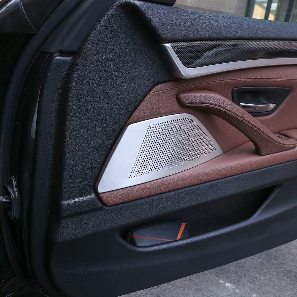 Car Door Stereo Speaker Cover Trim for BMW 5 Series F10 520 525li 528 2011-2017 Aluminum Alloy Styling Accessories 2Pcs//Set