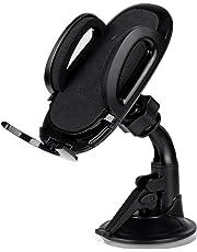 AUKEY Handyhalterung Auto Armaturenbrett Windschutzscheibe 360 Drehbar Kfz Halterung für iPhone XR/XS Max / 8/7 / 7 Plus / 6/6 Plus / 6s, Samsung Note 8 / S8 / Galaxy S6, HTC, Nokia, BlackBerry, GPS