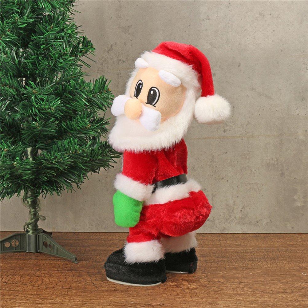 TOYMYTOY Tanzender Weihnachtsmann mit Musik Kinder elektrisch ...
