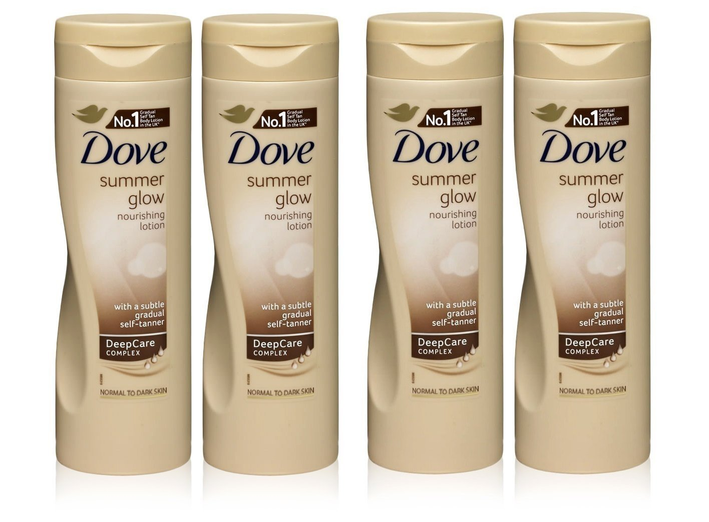 Dove Summer Glow Nourishing Body Lotion Normal To Dark Skin - Pack Of 4