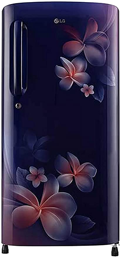 LG 190 L 3 Star Direct Cool Single Door Refrigerator GL B201ABPX.ABPZEBN, Blue Plumeria,Smart Inverter Compressor  Refrigerators
