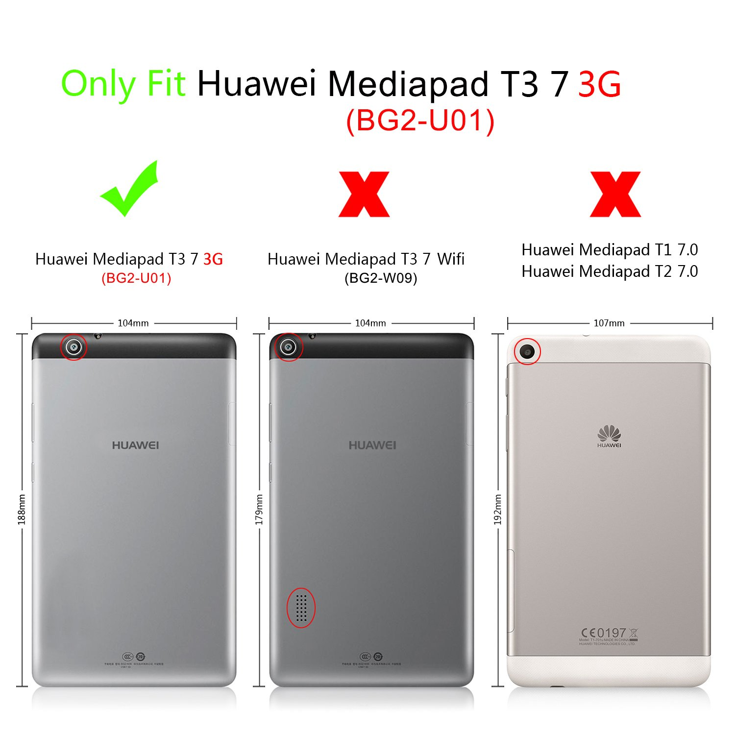 custodia huawei media pad t3 7
