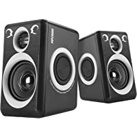 Computer Speakers with Surround Sound 2.0CH USB Wired Powered Multimedia Speaker for Desktop/TV/PC/Laptops/Smart Phone RECCAZR Built-in Four Loudspeaker Diaphragm (Gray)