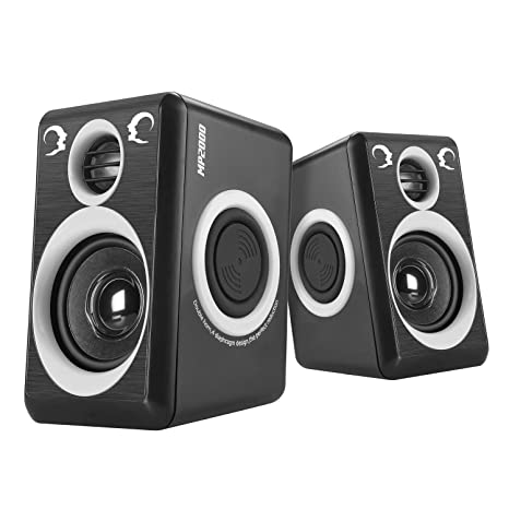 5852cce05 Computer Speakers with Surround Sound 2.0CH USB Wired Powered Multimedia  Speaker for Desktop TV